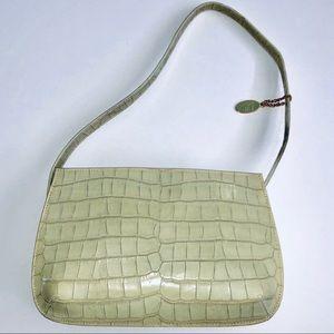 Like New Croco Embossed Leather Co Liz Claiborne